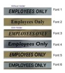 Employees Only  Door Nameplate | slide in or fixed room sign
